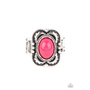 Vivaciously Vibrant - Pink Stretchy Ring